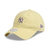 New York Yankees Lemon Purple 9Twenty New Era Adjustable Cap Women's