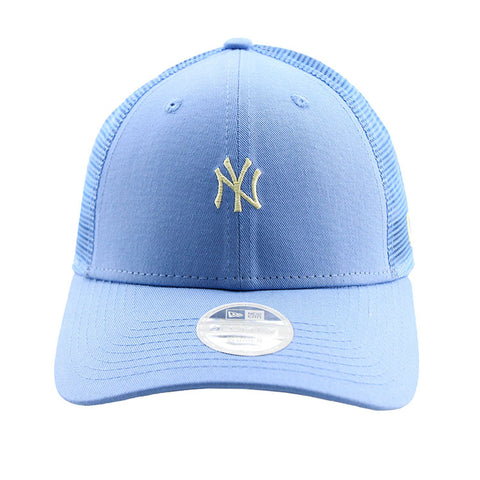New York Yankees New Era Blue Tiny Logo Trucker Women's 9forty Adjustable Cap