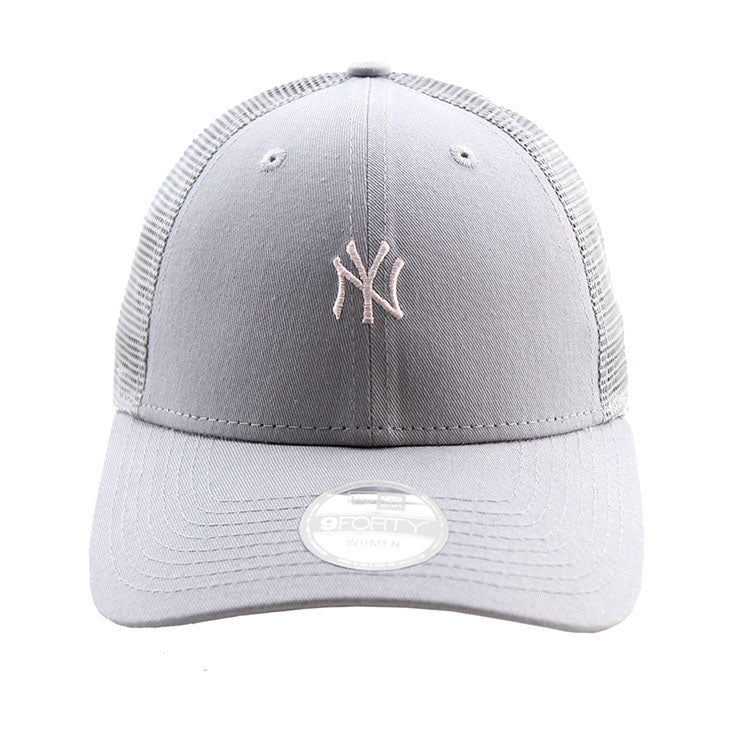 New York Yankees New Era Grey Tiny Logo Trucker Women