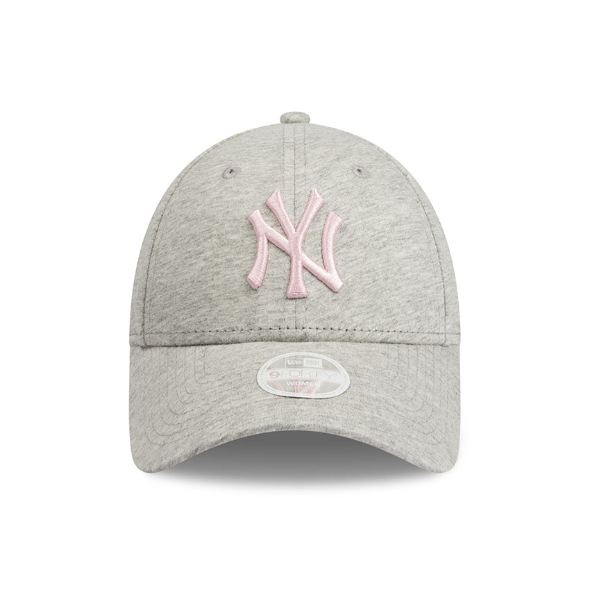 New York Yankees New Era Heather Grey Jersey 9forty Adjustable Cap Women