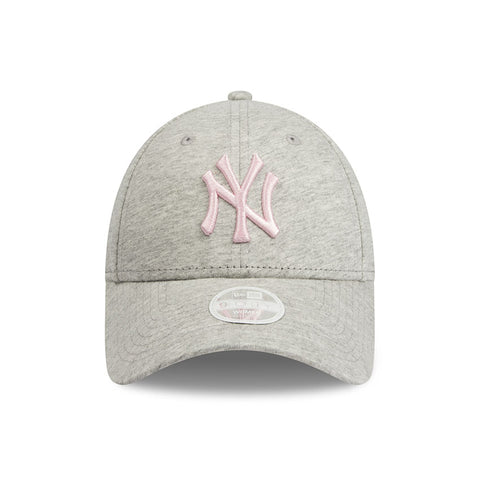 New York Yankees New Era Heather Grey Jersey 9forty Adjustable Cap Women's