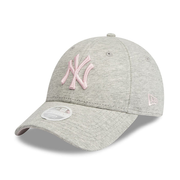 3a8460fbdd260 ... New York Yankees New Era Heather Grey Jersey 9forty Adjustable Cap  Women s ...
