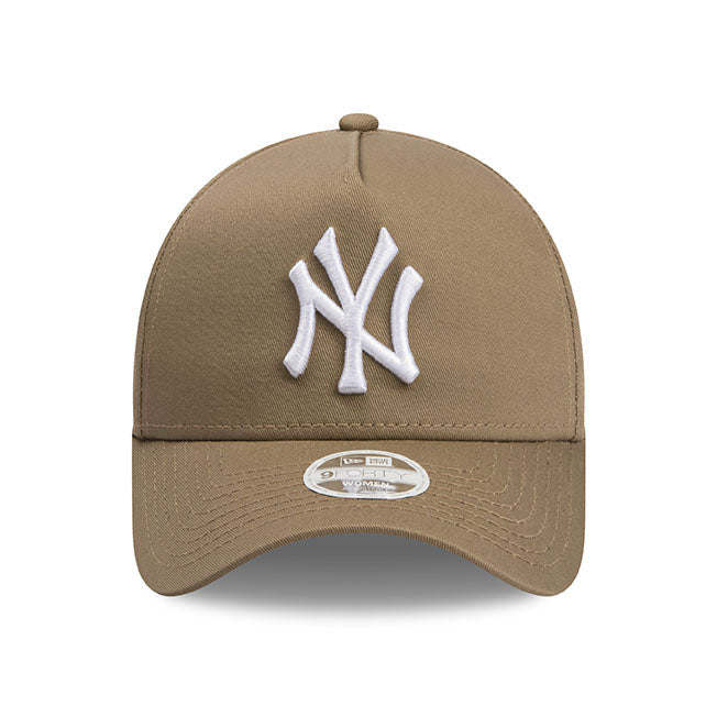 New York Yankees New Era Khaki Beige 9forty Adjustable Cap Women