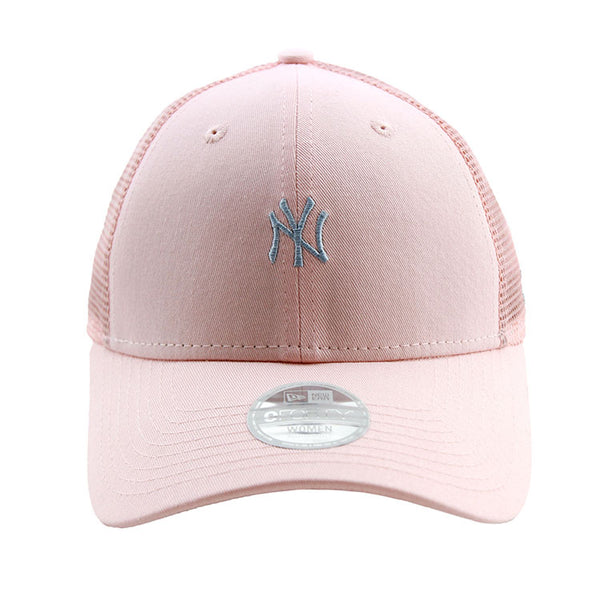 322e2c4b4d5bc ... free shipping new york yankees new era pink tiny logo trucker womens 9forty  adjustable cap lidz
