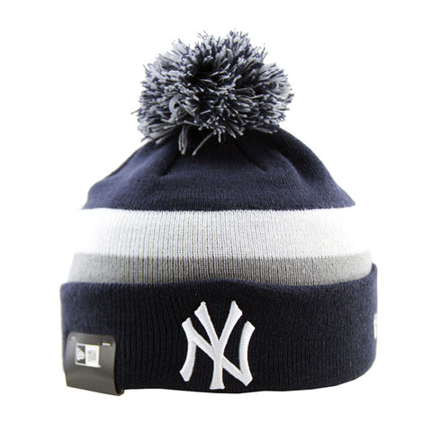 New York Yankees New Era Pom Knit Navy Beanie