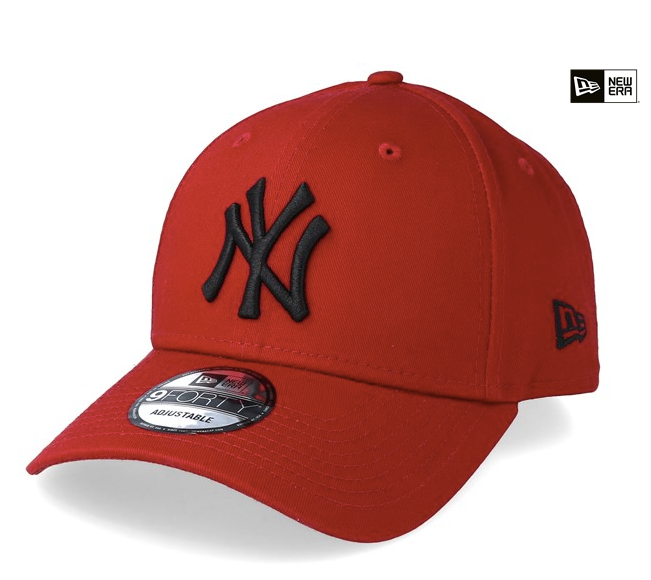 New York Yankees Scarlet Black 9forty Adjustable New Era Cap