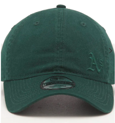 Oakland Athletics 9Twenty Dark Green on Green Fless New Era Strapback Cap