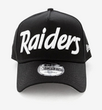 Oakland Raiders Black Script 9forty Adjustable Snapback New Era Cap