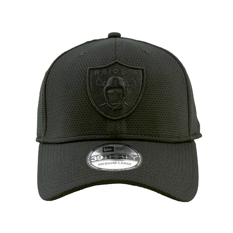 Oakland Raiders Black on Black 3930 New Era DE Cap