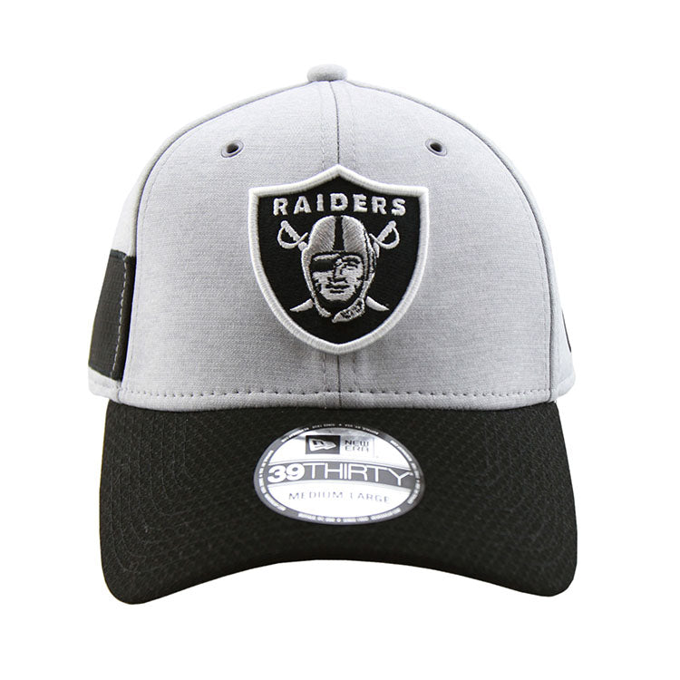 Oakland Raiders New Era 2018 Sideline Collection Onfield Fitted 3930 Pre Curved Cap