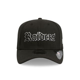 Oakland Raiders New Era Black 9Fifty Stretch-Snap Cap Lidz Caps Australia