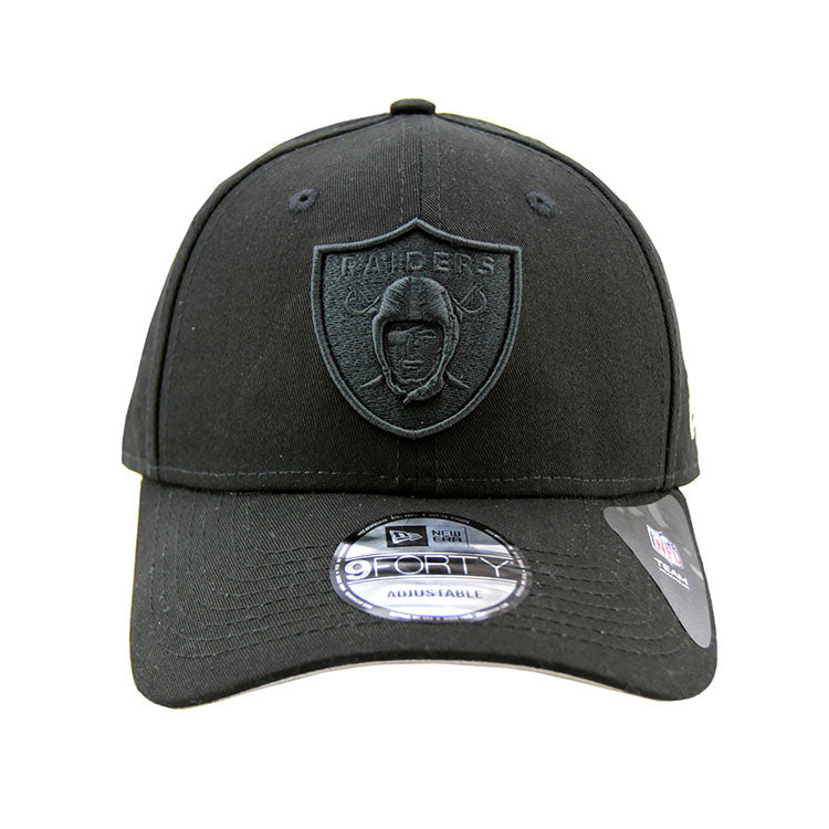 0286904d5bc ... discount code for oakland raiders new era black on black 9forty  adjustable snapback cap bd1ed 387da