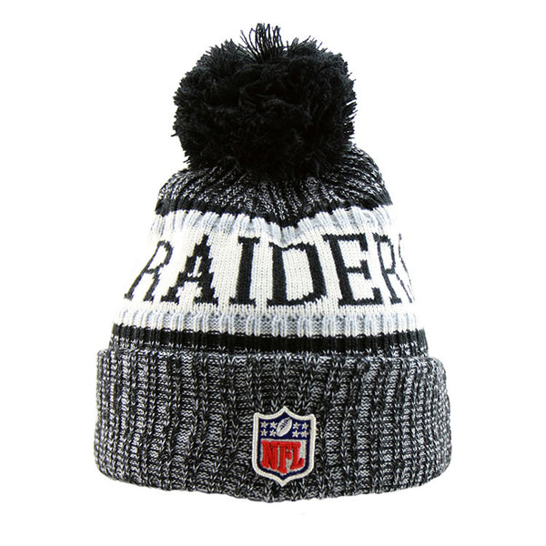 brand new 0faaf a0dac ... coupon for oakland raiders new era nfl on field knit cuffed beanie  d98eb 31bd4