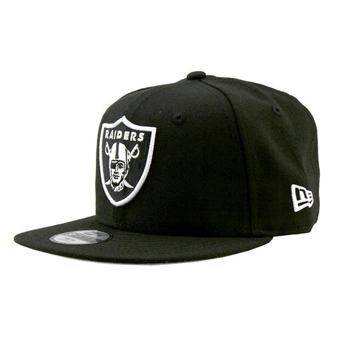 Oakland Raiders Youth Black Snapback Cap