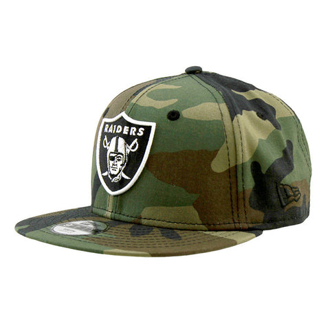 Oakland Raiders Youth Camo Snapback Cap