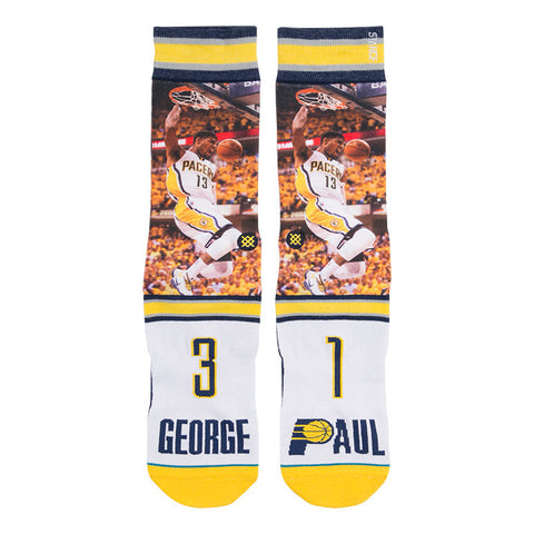 Paul George Pacers NBA Future Legends Stance Socks