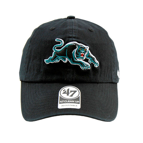 Penrith Panthers 47 Brand Clean Up Strapback Black Cap