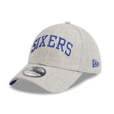 Philadelphia 76ers Heather Grey Script 3930 New Era Stretch Fit Cap