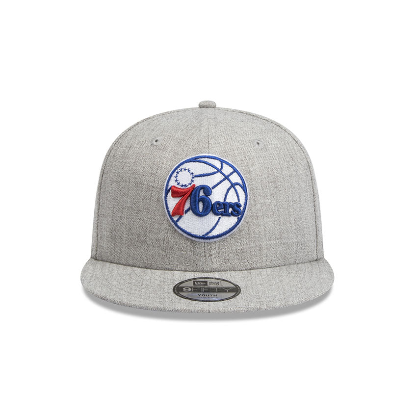 Philadelphia 76ers New Era Youth Heather Grey 9Fifty Snapback Cap 7f8b9370db6d