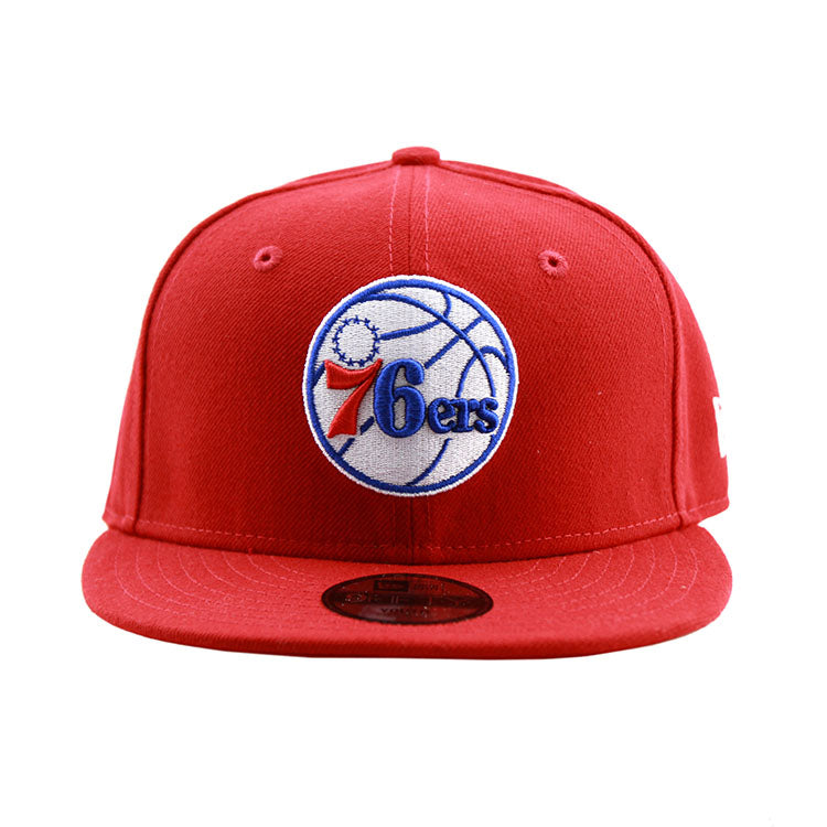 Philadelphia 76ers New Era Youth Red 9Fifty Snapback Cap 5a9aa9c0e140