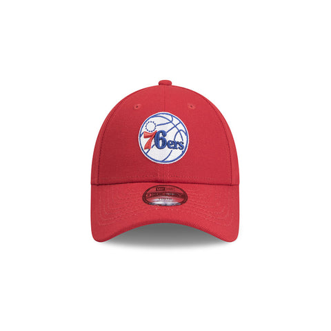 Philadelphia 76ers Team Pop Scarlet New Era 9forty Adjustable Strapback Pre Curved Cap