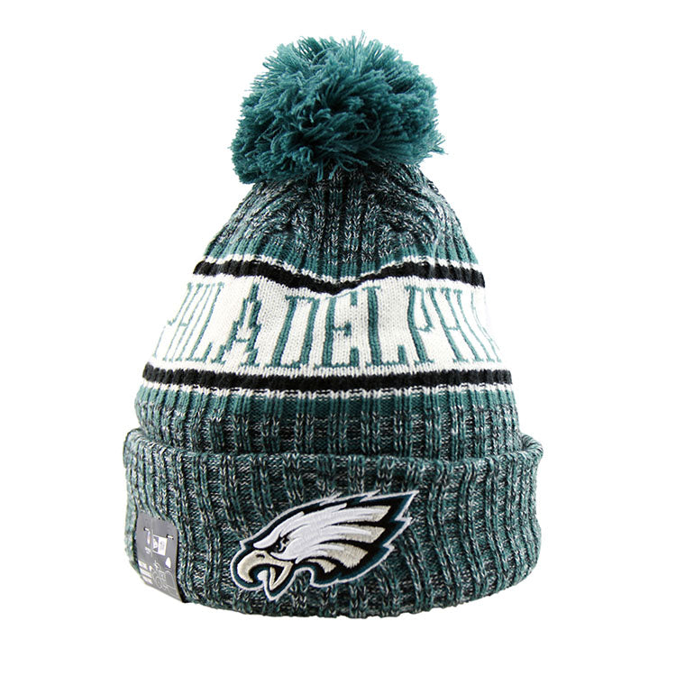 new style cef82 57068 Philadelphia Eagles New Era NFL On Field Knit Cuffed Beanie lidz caps front