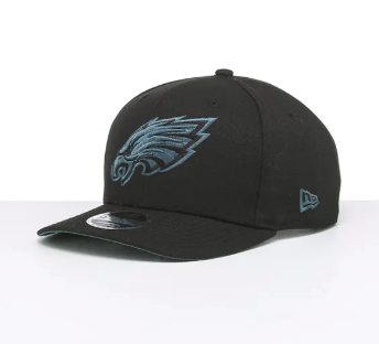 Philadelphia Eagles New Era Snapback 9fifty Original Fit Cap Black Teal