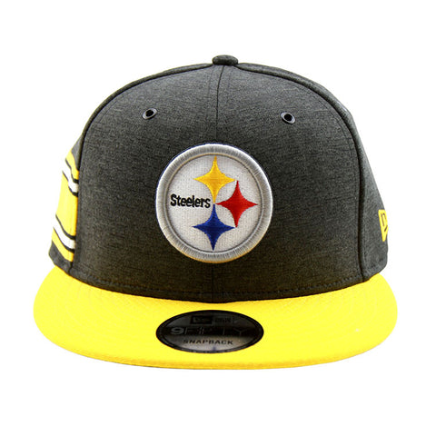 Pittsburgh Steelers New Era 2018 Sideline Collection Snapback 9fifty Original Fit Cap