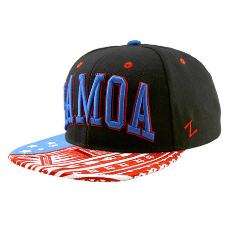 Samoa Black Red Blue Snapback Toa Collection Cap