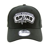 San Antonio Spurs Performance Black 3930 New Era Stretch Fit Cap lidz caps australia front