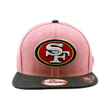 San Francisco 49ers New Era Heather Red Black Action Snapback Cap