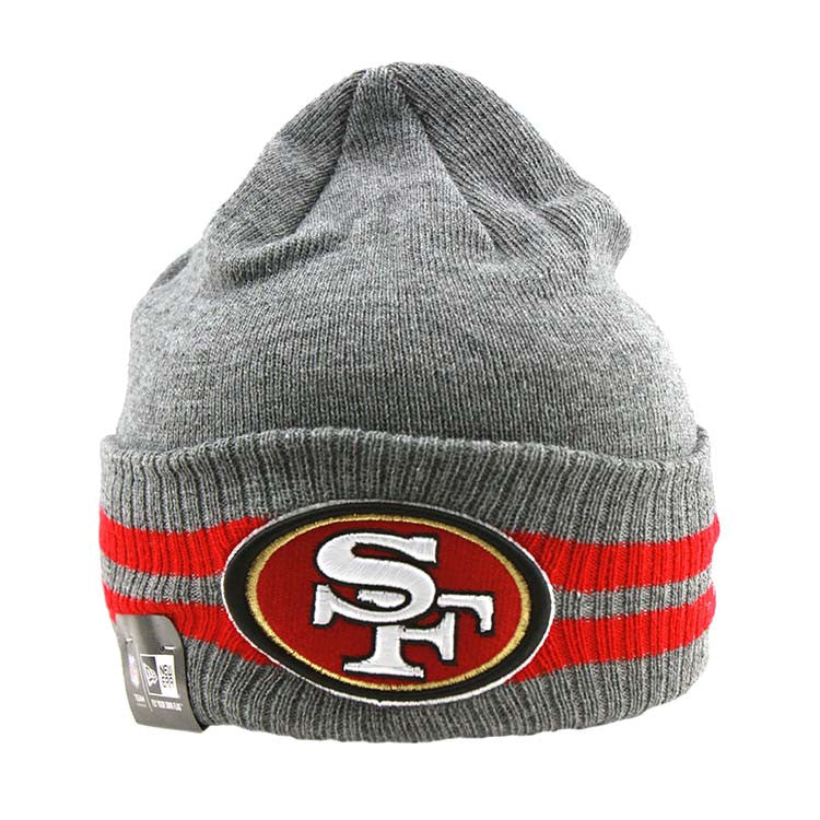 San Francisco 49ers New Era NFL 2 Striped Cuff Beanie