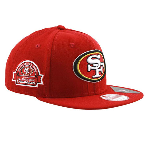 San Francisco 49ers Super Bowl Champions Side Patch Snapback Cap