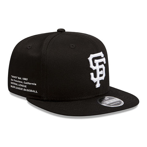 San Francisco New Era Black Offside 9Fifty Snapback Cap