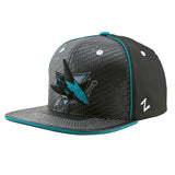 San Jose Sharks Zephyr Snapback Two Tone Texture Black