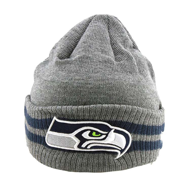Seattle Seahawks New Era NFL 2 Striped Cuff Beanie
