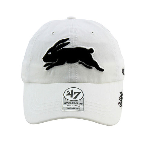 South Sydney Rabbitohs 47 Brand Clean Up Strapback White Women's Cap