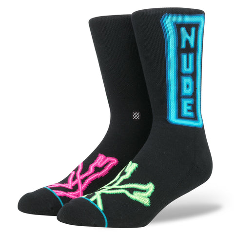 Fashion Stance Socks: Peepshow Neon signs nude Black
