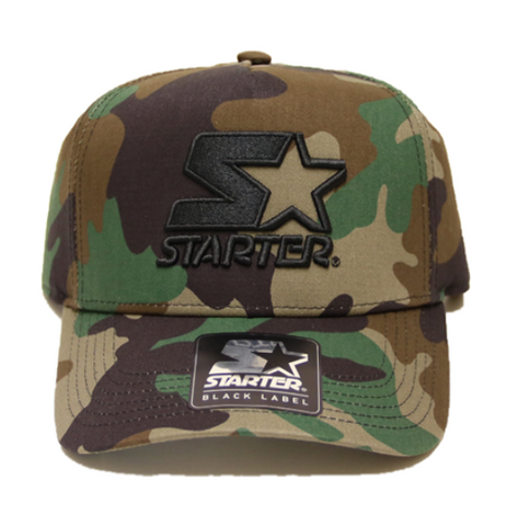 Starter Brand Throwback Black Label Black Cap