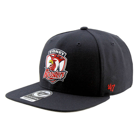 Sydney Roosters 47 Brand Captain Sure Shot Snapback Navy Cap