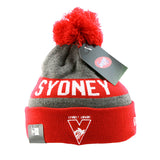 Sydney Swans New Era Jake Beanie Red Grey