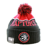 Toronto Raptors New Era Pom Knit Black Beanie
