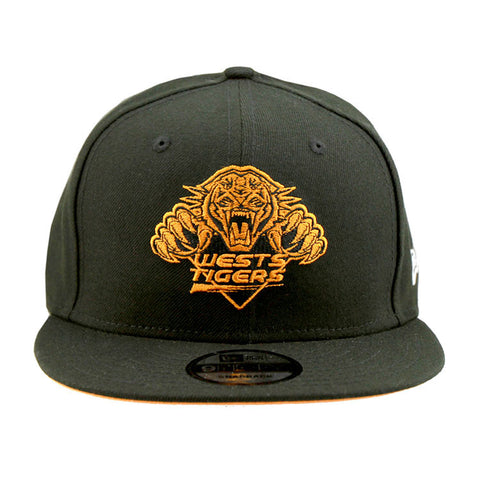 Wests Tigers Black POP NEW ERA 9fifty Snapback Cap