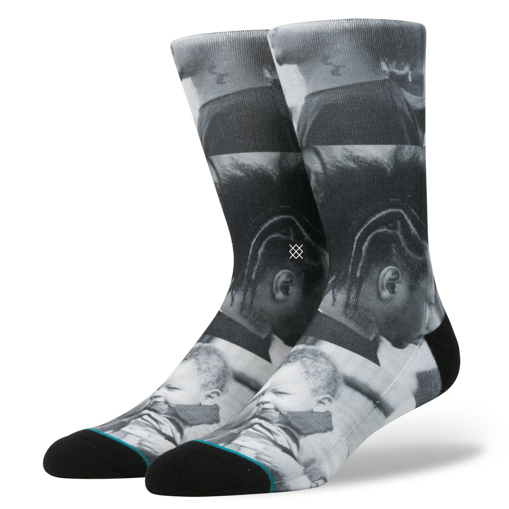 NBA Stance Socks: Allen Iverson G L Process Black & White 200 Needle