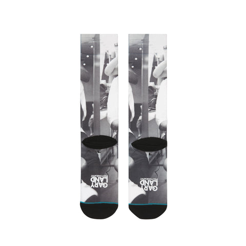 NBA Stance Socks: Allen Iverson G L Braids Black & White 200 Needle