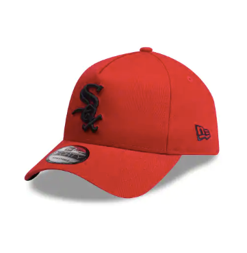 Chicago White Sox Scarlet Black 9forty Adjustable New Era Cap