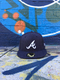 Atlanta Braves Heather Navy Fitted New Era Cap