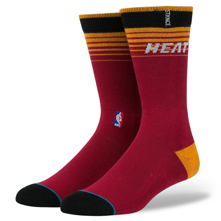 Miami Heat Arena Casual Logo Stance Socks
