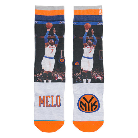 Melo New York Knicks NBA Future Legends Stance Socks