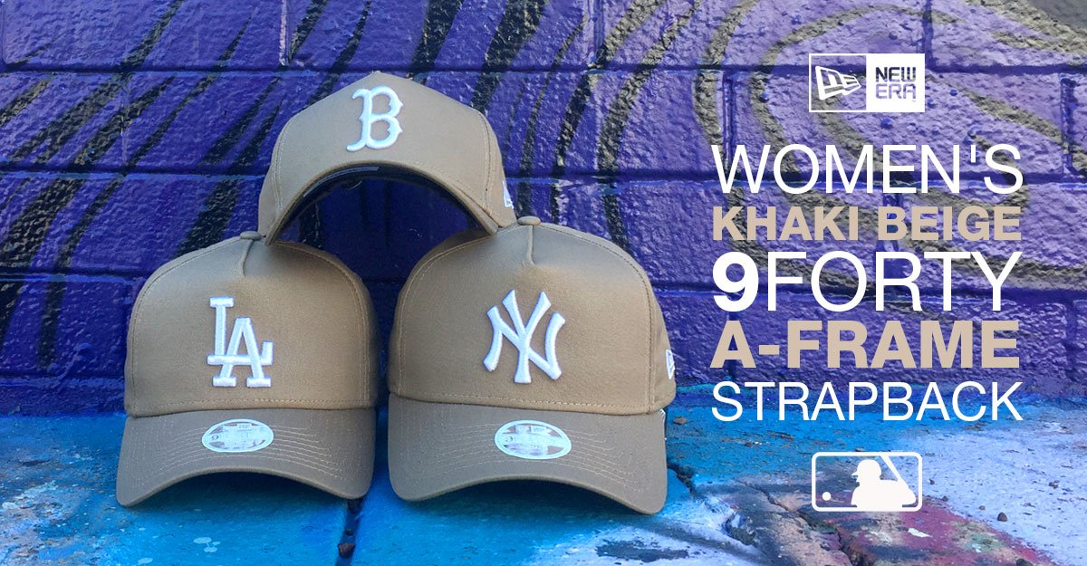 MLB New Era 9Forty Womens Khaki A-frame Strapback